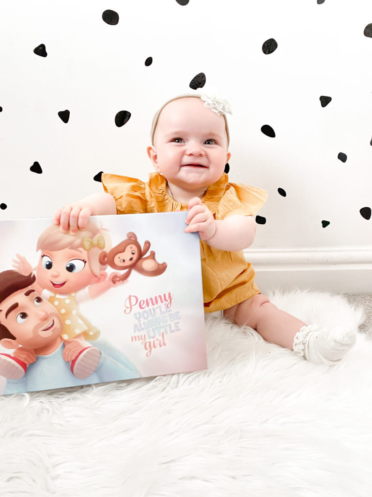 Penny with her new personalized book