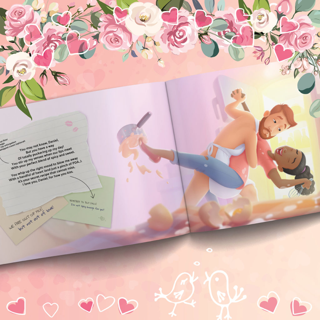 Personalized love book from Hooray Heroes
