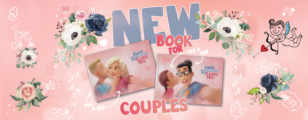 Personalized Love You Book for ALL couples by Hooray Heroes!